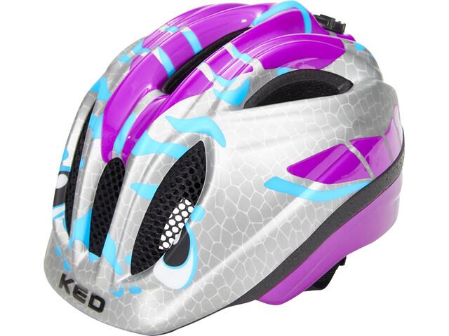 KED Meggy II Trend Helmet Kids Dino Violett Silver